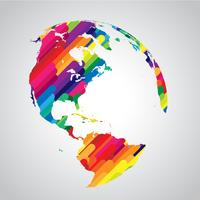 Colorful abstract world symbol vector