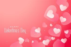 coeurs fond romantique Saint Valentin