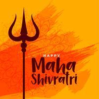 gelukkige maha shivratri Indiase festival groet achtergrond