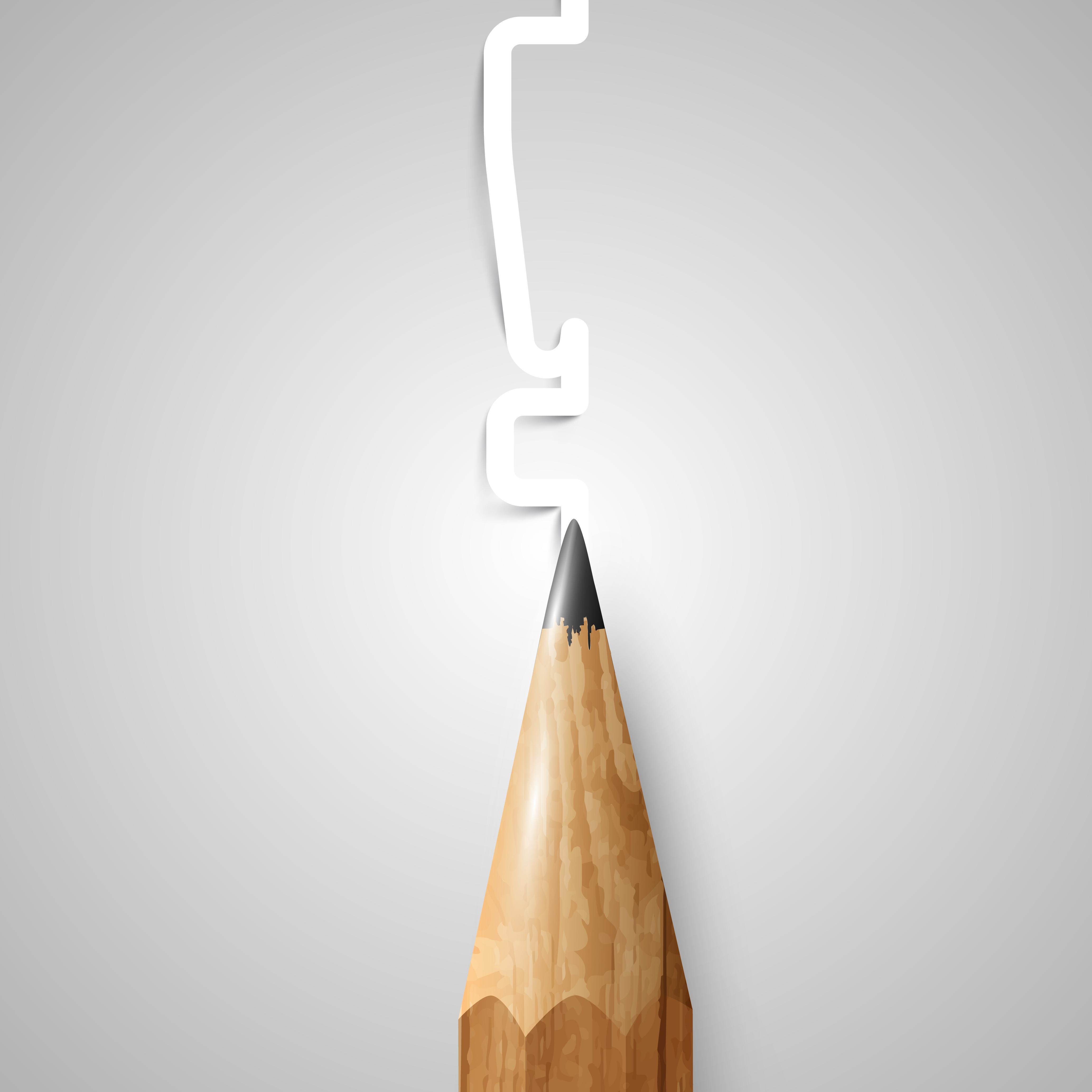 Brown Hölzerner Bleistift Vektor Kostenlose Vektor Kunst