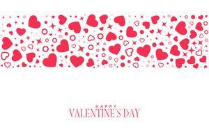 Fondo de corazones patrón para el día de San Valentín