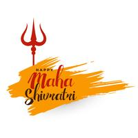 maha shivratri hindu festival background with trishul symbol