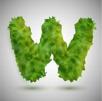 Ein Brief mit Blättern, Vektor