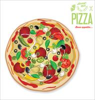 Pizza design rétro