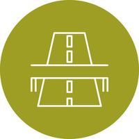 Vector road bridge icon