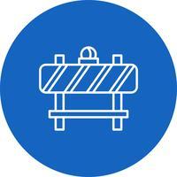 Vector barrière pictogram
