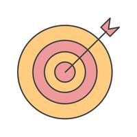 icône de vecteur cible