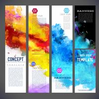 Abstract vector template banners