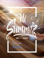 Summer Background Poster vector
