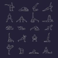 Yoga Positions Icons