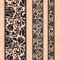 Vintage seamless decorative patterns in the form of strips.