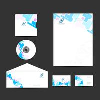 Modern business identity design set