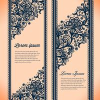 Abstract Lace Ribbon Vertical banners.