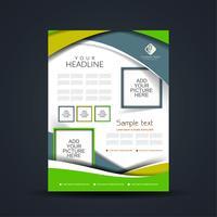 Diseño de folletos de negocios modernos.