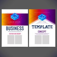 Abstract vector template design corporate style for business, brochure, flyer, page