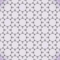 Vector floral line style background, seamless monogram design pattern