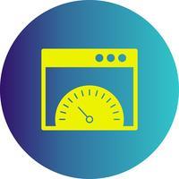 icono de velocidad del navegador de vectores