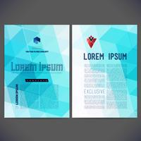 Abstract vector template design, brochure
