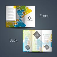 Abstract tri fold business brochure template