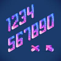 Vector shapes Digits collected from a triangle isometric