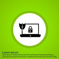 icône de verrou pour ordinateur portable vecteur