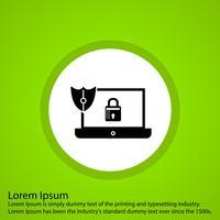 vector laptop lock icon