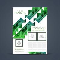 Modèle de brochure d'entreprise moderne abstrait