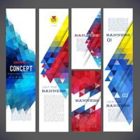 Abstract design banners vector template design