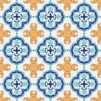 Decorative tile pattern design. vector illustration.