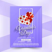 Realistic gift valentine party poster