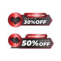 Distintivo di vendita di San Valentino