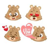 Personagem de desenho animado de ursinho fofo