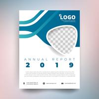 Annual report template, Modern design with blue tone