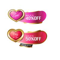 Valentine's Day sale badge