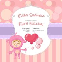 Rosa baby shower design per ragazza