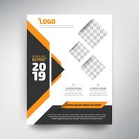 Annual report template, Modern design with orange and black tone