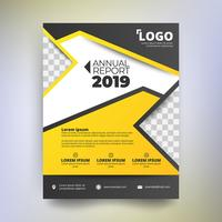 Annual report template, Modern design with yellow and black tone