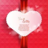 Vecteur de fond de carte coeurs Saint Valentin
