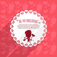 Cupid valentine's day background