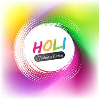 Modern holi festival background