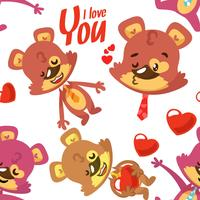 Pattern of Bears for valentines day