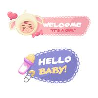 Fantastiska baby shower badges