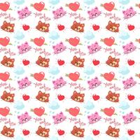 Kitty pattern with heart