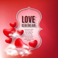 Realistischer Hintergrund mit Valentinsgrußinnerem