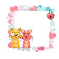 Alla hjärtans dag bakgrund med katt