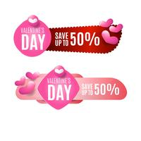Insignia de venta de San Valentín