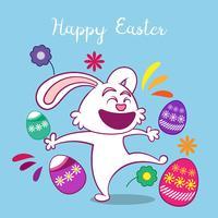 Fundo de dia feliz Páscoa com coelho