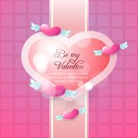 Flying hearts valentine's day background