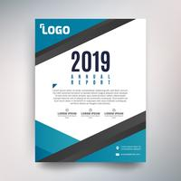Annual report template, Abstract design with turquoise and black tone
