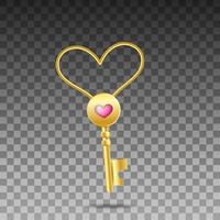 Heart shaped key